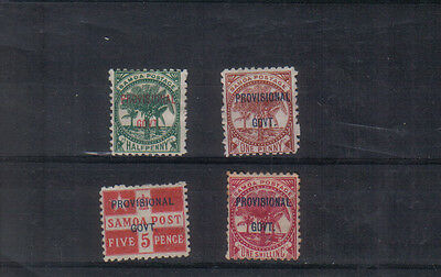 Samoa 1899-1900 Provisional Government Four values to 1/- mounted mint