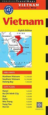 Vietnam Travel Map Eighth Edition by Periplus Editions Folded Book (English)