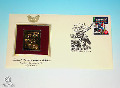 Captain America #100 Gold Edition USPS Stamp First Day Issue Marvel Comics 2007