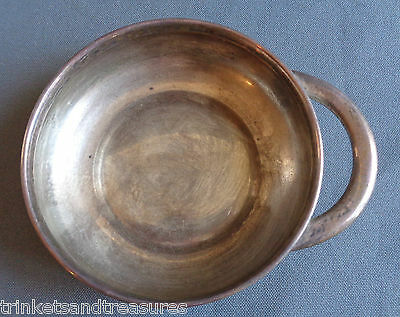 Antique Vintage Towle Sterling Silver Baby Childs Bowl Porringer Single Handle