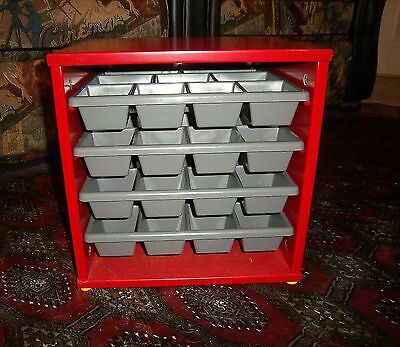 Lego Wooden Storage Cube - Sorting Tray Organizer - Project Case Exc. Used Cond.