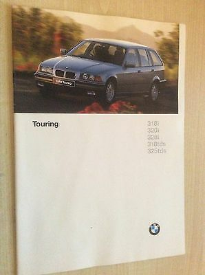 Bmw 3 Series (E36)  Touring  Sales Brochure 1996  #bmw3T01