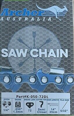 "14"" Chainsaw Chain 1/4"" .050 72 Drive Links replaces 25AP072G E1MC-72E 13RM72"