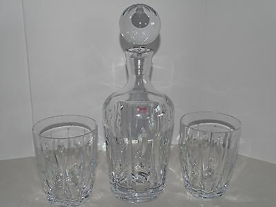 WATERFORD Marquis Crystal Decanter & 2 Glass Set
