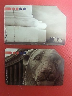 1997, Summit Communication, Naples. 2x Collectable Used Italian Phone Card