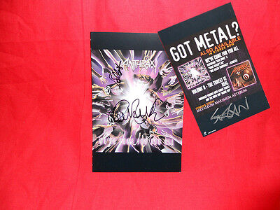 "Sale! Metal/Rock ""Anthrax"" We've Come For You All Multi Signed Promo Insert"