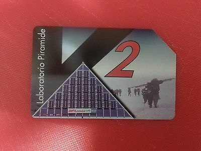 Everest-K2-CNR Project. Collectable Used Italian Phone Card