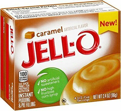 JELL-O Pudding, Caramel 3.4 oz