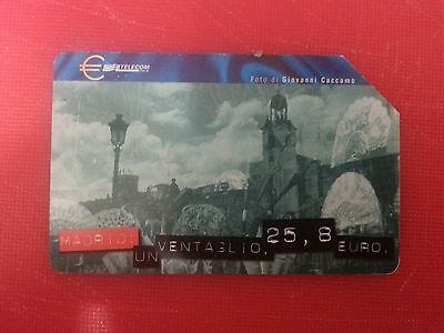 Madrid: the ride of the Euro's Capitals. Collectable Used Italian Phone Card