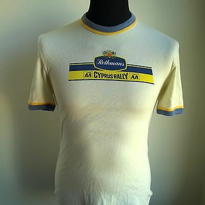 Rothmans Cyprus Rally T-Shirt 1970's Vintage Sigma Jersey Size Adult S