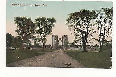 Elgin Cathedral From Cooper Park, PPC (Valentine's,)
