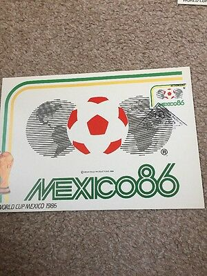 World Cup Mexico 1986 Masterfile Postcard