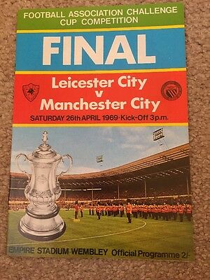 Leicester V Manchester City Fa Cup Final Programme And Song Sheet 1969