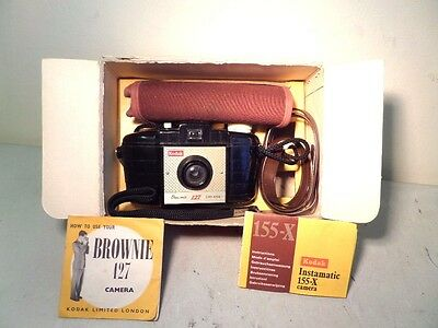 Vintage KODAK BROWNIE 127 in Box with Accessories - Great Display Piece