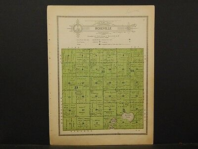 Minnesota, Grant County Map, 1914 Township of Roseville Y1#08