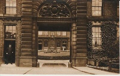 RP CRUMPSALL Manchester Workhouse, Entrance, offices, guard, people through arch