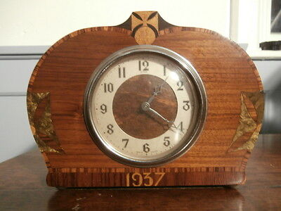 Vintage small Smiths Enfield mantle clock - 1937 Coronation