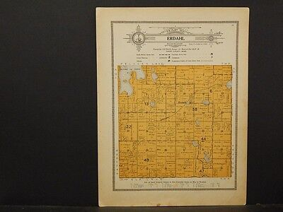 Minnesota, Grant County Map, 1914 Township of Erdahl Y1#10