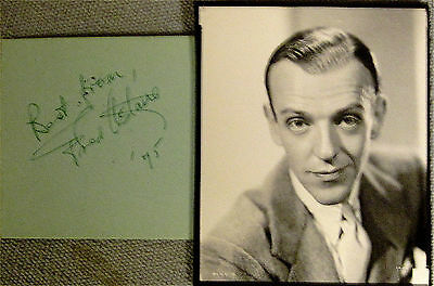 Fred ASTAIRE, Great US Film Star, Dancer/Singer 1920s On. Hand SIGNED Page/Photo