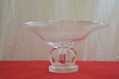 """Steuben Footed Compote Bowl Modern Centerpiece 10"""" Tuzza Dish  1255"""