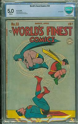 World's Finest #33 [1948] Certified[5.0] Classic Cover