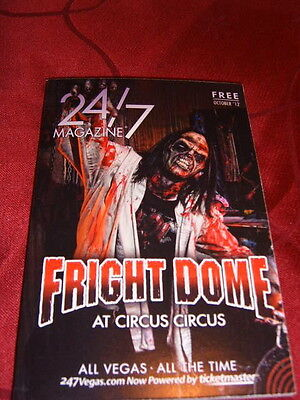 """LAS VEGAS """"24/7"""" MAGAZINE Halloween OCT 2012 - THINGS TO DO, SHOW & DINING GUIDE"""