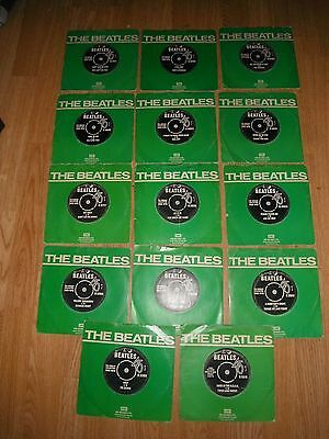 "BEATLES COLLECTION 14 x 7"" ALL IN ORIG SLEEVES EXC"