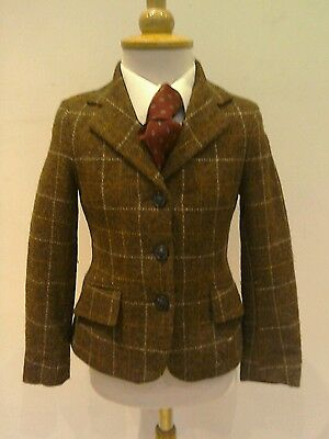Mrs Candy Foxley Brown Tweed Show Jacket Jacket Size Childs 24""