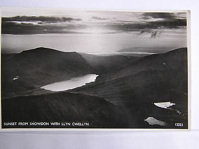 R/p Postcard - Sunset From Snowdon Summit - North Wales - 1952