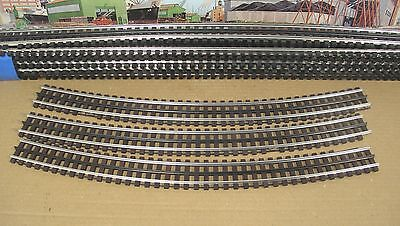 """GarGraves O 37"""" Phantom Straight Track wood tie Lot of 9 Sections New + 3 Curves"""