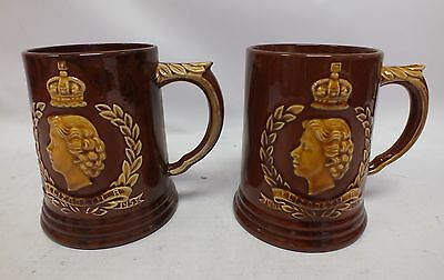 DARTMOUTH POTTERY Two Vintage Commemorative Beer Mugs - D17
