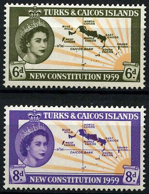 Turks & Caicos Is. 1959 SG#251-2 New Constitution MH Set #D42246