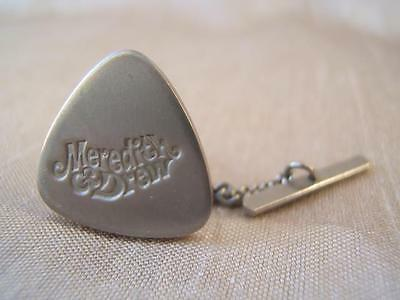 MEREDITH & DREW Biscuits vintage TIE PIN with chain SILVER TONE advertising