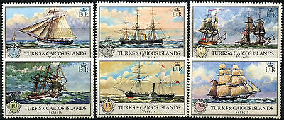 Turks & Caicos Is 1973 SG#396-401 Vessels, Ships MNH Set #D42274