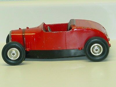 Vintage All American Hot Rod Tether Car Racer, Toy Vehicle, Red / Black