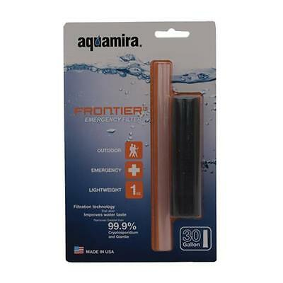 Aquamira 42100 Frontier Filter Water Treatment Straw Black
