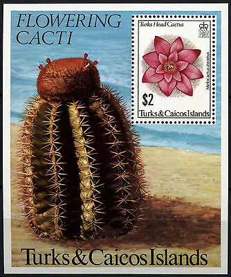 Turks & Caicos Is. 1981 Flowering Cacti MNH M/S#D42300