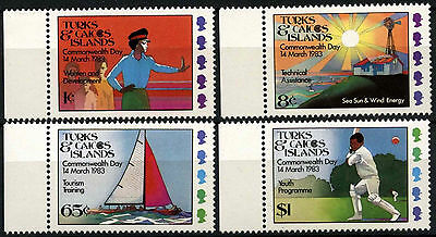Turks & Caicos Is. 1983 SG#736-9 Commonwealth Day MNH Set #D42304