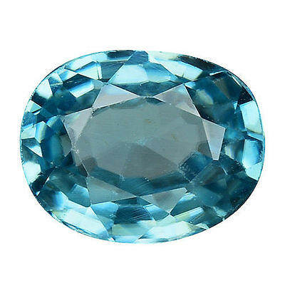 1.765Cts Fabulous Blue Natural Zircon Oval Loose Gemstones