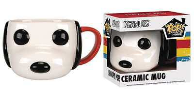 FUNKO POP HOME PEANUTS SNOOPY HEAD MUG NEW IN BOX #sdec16-113