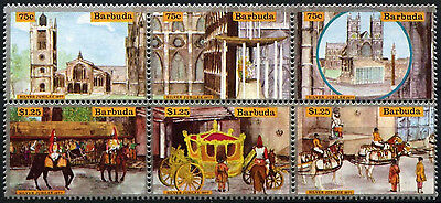 Barbuda 1977 SG#298-303 Silver Jubilee MNH Set From M/S #D42327