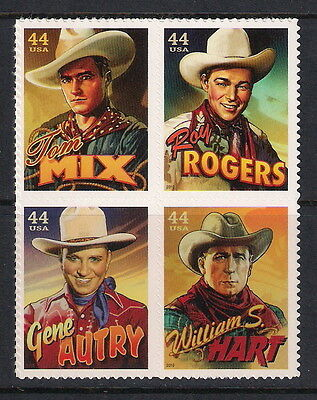 USA US mint stamps - 2010 Cowboys of the Silver Screen, MNH