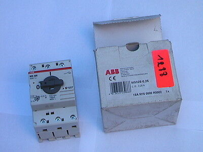 MS325-0.25 ABB Disjoncteurs magnéto-thermique Motor protection switch 0.16-0.25A