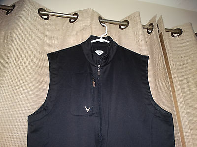 CALLAWAY Golf mens XXL black Polyester Spandex Full Zip Vest Excellent see other