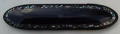 Victorian Paper Mache M.o.p. Inlay Hinged Spectacle Case