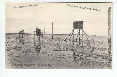 Crossing The Sands Holy Island Lindisfarne Conveyances For Hire Telegrams R Bell
