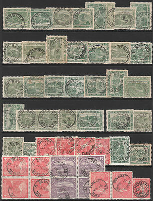 TASMANIA 1902 1911 SELECTED POSTMARK USED STAMPS + RPO T PERFIN all wmk CROWN A