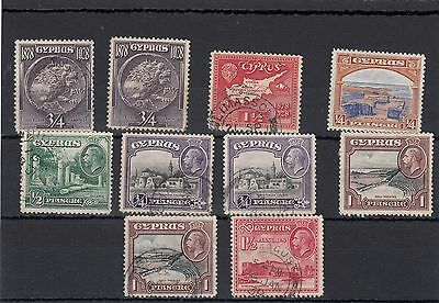Cyprus. 10 --1928/34 Used Stamps On Stockcard