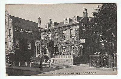 The Bridge Hotel Bedford (Demolished 1980) Early 1900's Old Postcard Unposted