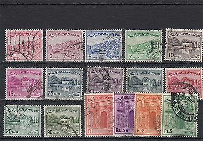 Pakistan.16 -- Used Early Stamps On Stockcard